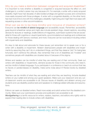 VIDA Disability Primer: page 2