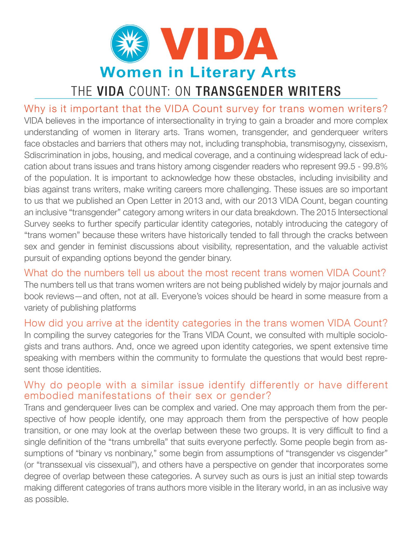 VIDA Trans Primer: page 1