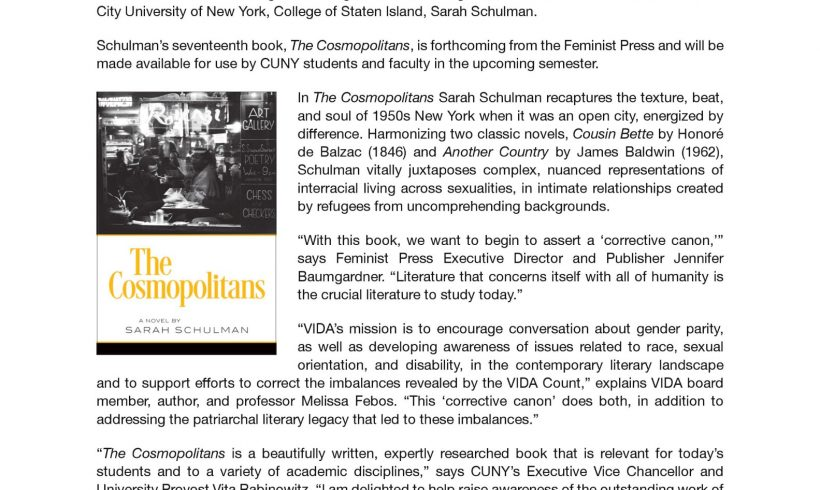 "THE FEMINIST PRESS AT CUNY & VIDA LAUNCH HISTORIC ""CORRECTIVE CANON"""