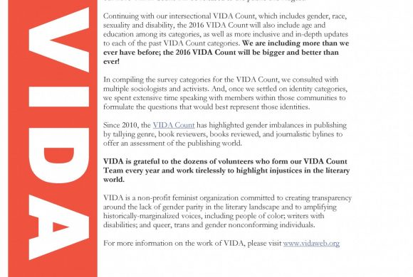 VIDA TO RELEASE 2016 VIDA COUNT THIS AUGUST!