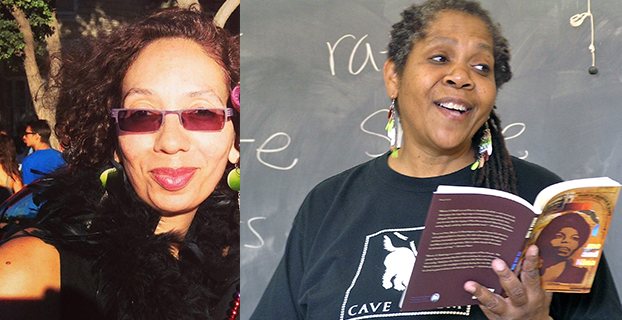 Two photos of queer women of color side by side. On the left, JP Howard, and on the right, Monica Hand.