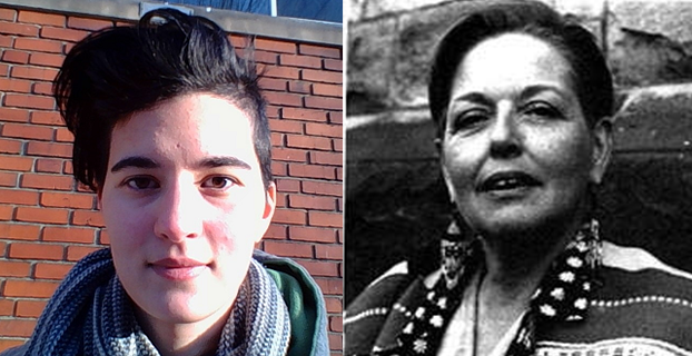 Two photos of queer women of color side by side. On the left, Fatima Espiritu, and on the right, Beth Brant.